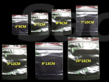 100pcs/pack  Thickness 0.06mm Jewelry Ziplock Zip Zipped Lock Reclosable Plastic Poly Clear Bags