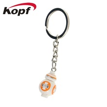 Super Heroes Star Wars Custom-Made Handmade Keychain Key Chain Ring Mini BB8 Astromech Droid Building Blocks Children Toys DA001(China)