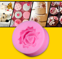 3D Rose Flower DIY Fondant Cake Chocolate Sugarcraft Mold Cutter Silicone Tool