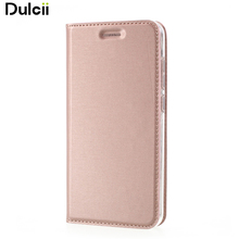 Dulcii For Huawei P10 Lite Case Card Slot Brushed PU Leather Stand Mobile Casing for Huawei P10 Lite - 5.2 inch