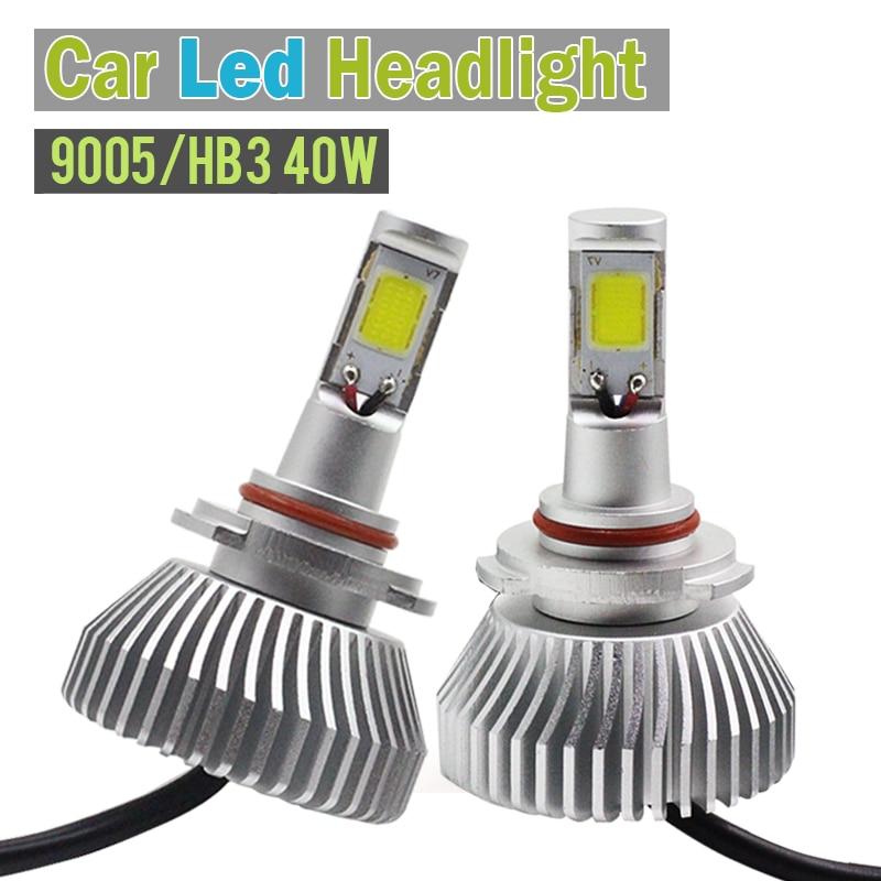1 Pair 40W 9005 HB3 4000LM LED Lamp White Car Conversion Headlight Low Beam DRL Fog Bulb Daytime Running Lamp<br><br>Aliexpress