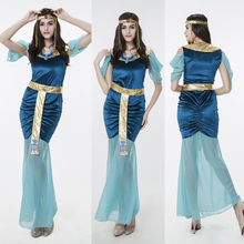 Fairy Greek Goddess Costume Egyptian Cleopatra Queen Fancy Dress Halloween Party Cosplay Clothes Arab Girl Costumes Game Uniform