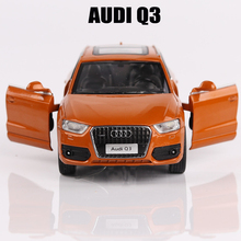 Car Models 1:32 Audi Q3 Vehicles Toys For Children Alloy Car toy Simulation Models Door Open Diecast Collection Metal Car Toys