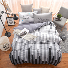 2017New fashion black white striped bedding sets quilt duvet cover sheets single twin full queen size bedroom decor bedspread