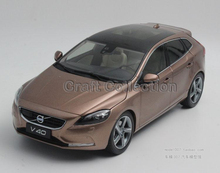 New Coming! Brown 2015 1/18 Volvo V40 SUV Die-Cast Model Car Luxury Miniature Toys Scale Models