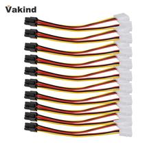 10PCS Molex 4 Pin to PCI-E PCI Express 6 Pin Power Converter Adapter Cable Connector Power Supply High Quality New Promotion