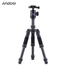 Andoer TP166C Lightweight Camera Tripod Carbon Fiber Mini Table Tripod w/ Ball Head Kit for Canon Nikon Sony Camera DV Camcorder