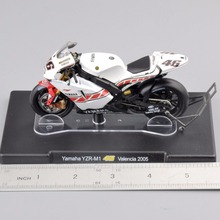 Racing Motorbike Model 1/18 Rossi Series Yamaha YZR-M1 #46 Motorcycle Valencia 2005  Diecast Motorbike Kids Gift Collection