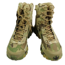 Buy Multicam Military Hunting Tactical Boots Camouflage Combat Outdoor Army Hiking Travel Shoes Leather Ankle Male zipper Boots for $25.90 in AliExpress store