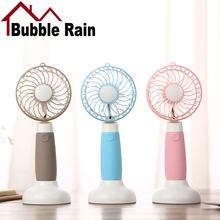 Bubble Rain A47 Rechargeable Mini Fan Creative USB Handheld Fans Dormitory Desktop Outdoor Portable Small Electric Cooling Fan(China)