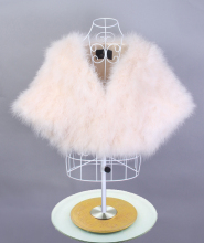 Fashion Women Real Ostrich Feather Fur Poncho Lady Turkey Fur Shawl Bridal Jacket Wrap Shawl Prom Wedding Accessories(China)