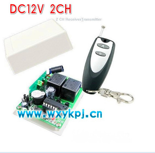 DC12V 2CH rf wireless remote control switch 315mhz433mhz learning code room lights remote control switch automatic light switch<br><br>Aliexpress