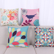 Countryside Bird flower Cushion Covers Sofa Decorative Throw Rose Animal Pillow Case Pillow cover Sofa Decor Couch 45x45cm