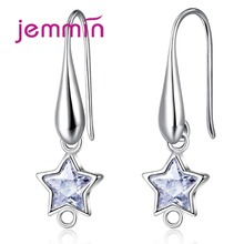Jemmin 925 Sterling Silver Earring Components Star Crystal U-Shaped Hooks DIY Jewelry Making Accessories Prevent Allergy(China)