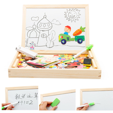 Baby Farm Animal Wooden Magnetic Puzzle Toys for Children Kids Jigsaw Baby Drawing Easel Board fidget cube Educational toy PT014