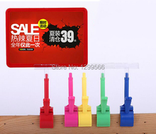 Best selling thumb clip pop advertising poster display stand holder rack A5 frame price tag sign Promotions card 20 sets