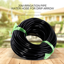 20M 3/5 4/7mm Black Micro Irrigation Pipe Water Hose Lawn Watering Sprinkling Durable Soft PVC Home Garden Greenhouse Drip Arrow(China)