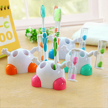 Children's Brushing Timer,Hot sale ABS very lovely Hourglass timer design Toothbrush rack holder For kids