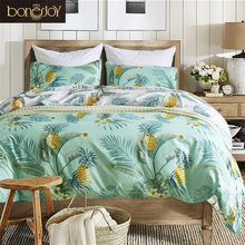 Bonenjoy Pineapple Bedding Set Queen/King Size for Adult Duvet Cover Twin Housse de couette American Style Bed Linen Bedding Kit(China)