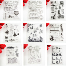 House corner party Xmas mix design Eco-friendly Transparent Stamp For DIY Scrapbooking/Card Making/ Decoration Supplies