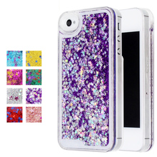 Hot Fashion Fun Dynamic Liquid Glitter Star Quicksand Phone Cases for iphone 4S case transparent clear Covers For iphone4