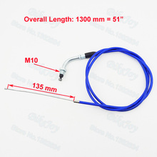 "Blue 51"" Gas Throttle Cable For 50cc 60cc 80cc Motorized Bicycle Push Motor Bike Dirt Bike Motorcycle"