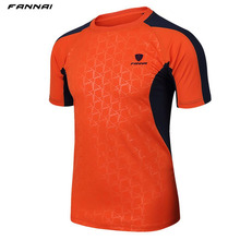 FANNAI Brand mens Summer Quick-dry Tennis shirt Outdoor sports Running Fitness clothes male Short-sleeve t shirts jogging tee(China)