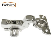 Probrico 4 Pair Soft Close Concealed Kitchen Cabinet Hinges CHR073HB 110 Degree Inset Hydraulic Furniture Cupboard Door Hinge(China)