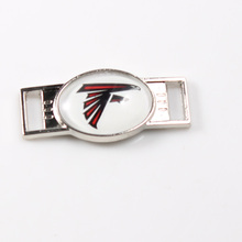 Atlanta Falcons USA Football Team Logo Shoelace Charms For New Sneakers Sport Shoes Paracord Bracelets Decoration 10pcs