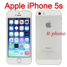 "Original iPhone 5S Mobile Phone Dual Core 4"" IPS 8MP WIFI 3G Unlocked iPhone5s Used Cellphones(China)"