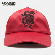 2017 New Design Dragon Embroidery Cap Unisex Baseball Hat(China)