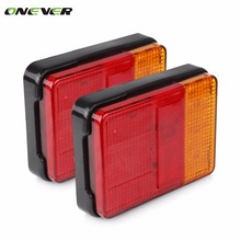 2PCS/lot 12V 30 LED Taillight Truck Car Van Lamp Tail Trailer Light E-Marked Car styling 120mm*90mm