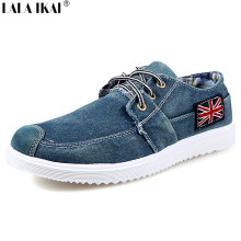 2017 Fashion Men Casual Shoes Denim Canvas Shoes British Flag Lace Up Breathable Mens Shoes Casual Zapatos Hombre XMB0029-5