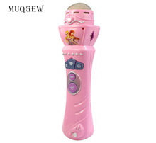 MUQGEW New Wireless Girls boys LED Microphone Mic Karaoke Singing Kids Funny Gift Music Toy Pink Birthday Gifts(China)