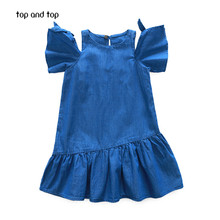 Top and Top Girls Dresses 2017 New Summer Casual Style Princess Dresses The party for children clothes(China)
