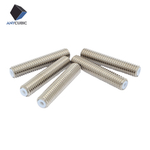 5pcs 3D Printer Throat For Makerbot MK8 1.75mm Filament Stainless Steel With Teflon PTFE Tube M6*30mm