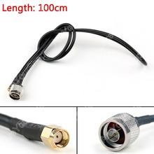 Areyourshop Sale 100cm RG58 Cable N Male Plug To RP.SMA Male Jack Straight Crimp Coax Pigtail 3ft M(China)