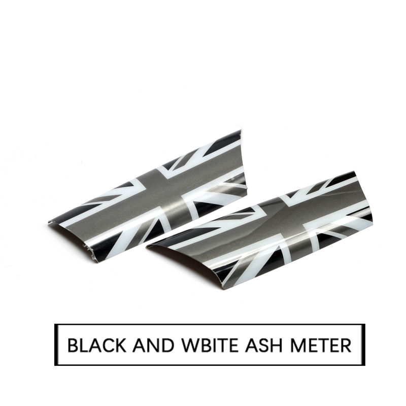 car styling For MINI Cooper Clubman R55 R56 R57 R58 Car Interior Door Handle Knob Cover Modified Parts Union Jack gray Style<br>