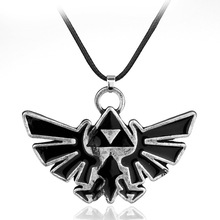 Fashion Movie Zelda Series long rope chain Necklace antique silver alloy jewelry men and women Cosplay Pendant accessories(China)