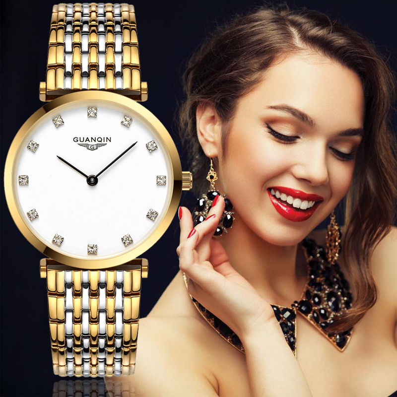 relogio feminino New GUANQIN Brand Women Business Casual Quartz Watch Womens Fashion Stainless Steel Wristwatch Montre Femme<br>