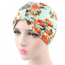 2017 Fashion Women vintage Hats floral print Turban Hat Chemo Hats Bandana Hijab knotted Indian cap