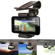 ularmo Black adjustable Car Rearview Mirror Mount Cradle Bracket Holde Stand Cradle For Cell Mobile cell Phone GPS(China)