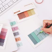 2PCS DIY Mini Cute Brief Gradient Color Memo Pads Post It Sticky Notes Bookmark Papers Stationery Papelaria