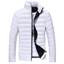 The North Of Boys Winter Mens Coats And Jackets Warm Stand Collar Slim Zip Coat Outwear Motorcycle Hip Hop Jacket Face(China)