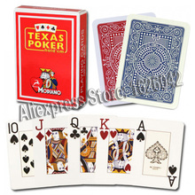 Modiano Texas Poker Size 2 Jumbo Index 100% Plastic Playing Cards Casino Quality Made in Italy(China)