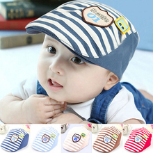 Brand New Baby Beret Hat For Boys Cotton Striped Baby Sun Caps Fashion Berets Kids Hat Autumn Girls Caps Baby Boys Clothing