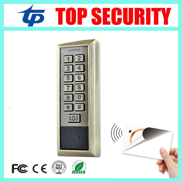 Smart 13.56MHZ MF IC card proximity card access control door opener RFID surface waterproof standalone access control system <br>