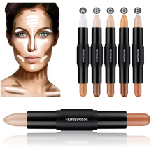 1PC Professional 2 in 1 Double-Ended Contour Sticks Concealer Highlighter Blemish Bronzer 3D Face Tools