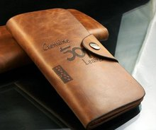Free shipping,2016 fashion Men genuine cow Leather long  Wallet Pockets rfid Card Clutch Cente Bifold Purse ,  wholesale WBL1