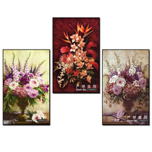 5D DIY Diamond Embroidery,5D Diamond Painting Mosaic,Purple Rose Flowers Vase Full Rhinestone Crystal Cross Stitch,Christmas